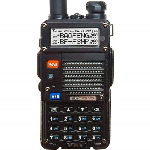BaoFeng BF-F8HP (UV-5R 3rd Gen) 8-Watt Dual Band Two-Way Radio