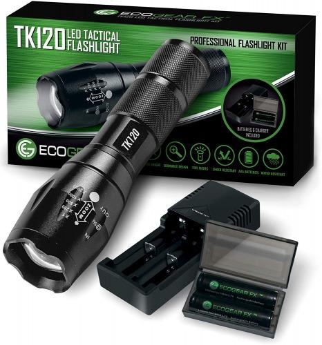 Complete LED Tactical Flashlight Kit - EcoGear FX TK120