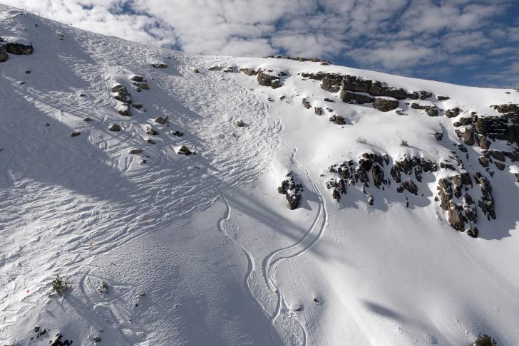 Mammoth snowboarding