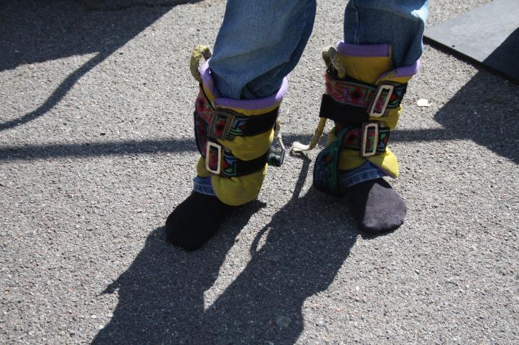 Legs ready for skyjump