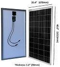 WindyNation 100 Watt Solar Panel Kit