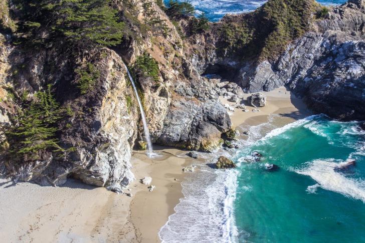 Waterfall beach