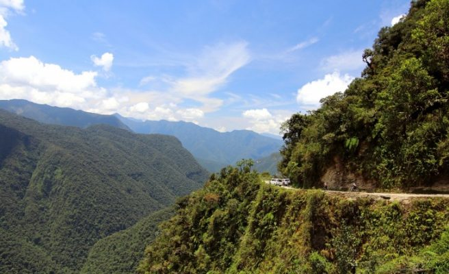 Traveling, Riding, Death Road, Bolivia