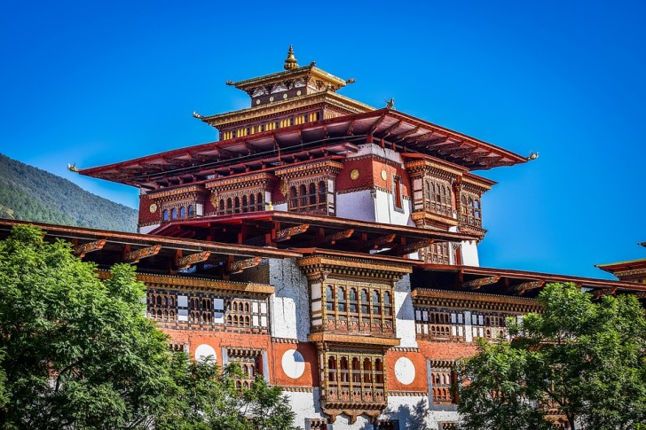 Buddhist monastery Bhutan