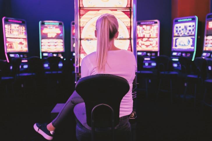 Woman casino