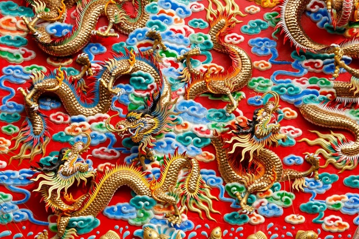 Chinese dragon ornaments