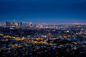 Traveling, Los Angeles, at Night