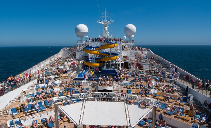 There are cruises where clothing is not required on the open decks and pools/ Image by MustangJoe from Pixabay