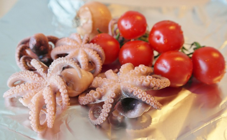 Octopus in tomatoes