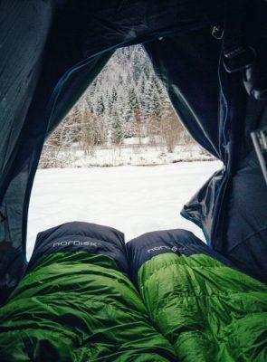 Traveling, Iceland, Hiking, Winter, Sleeping Bag