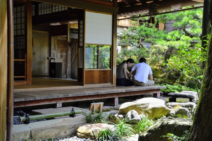 Many of the ryokans have gardens/ Image by alefolsom from Pixabay