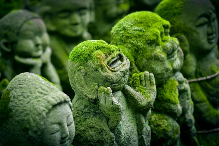 Ancient Japanese statues