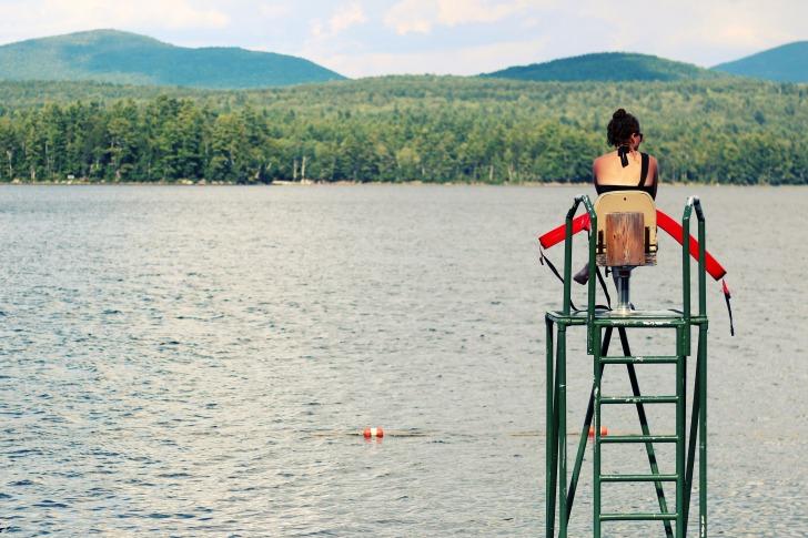 Woman lifeguard