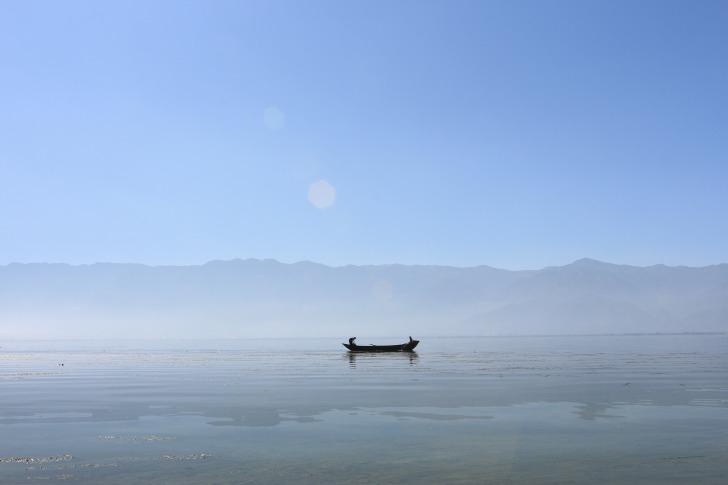 Canoe in the lake