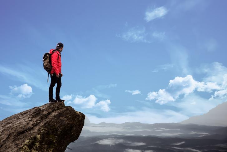 Hiker at the peak