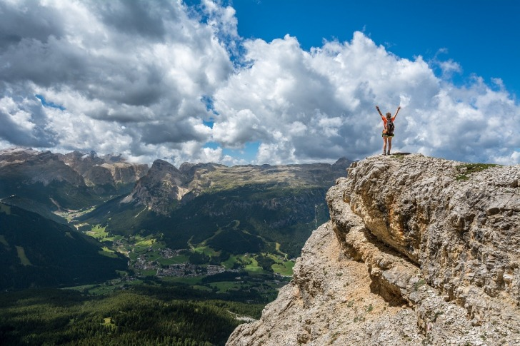 A Hiker on a Rock/ Photo by Pixabay