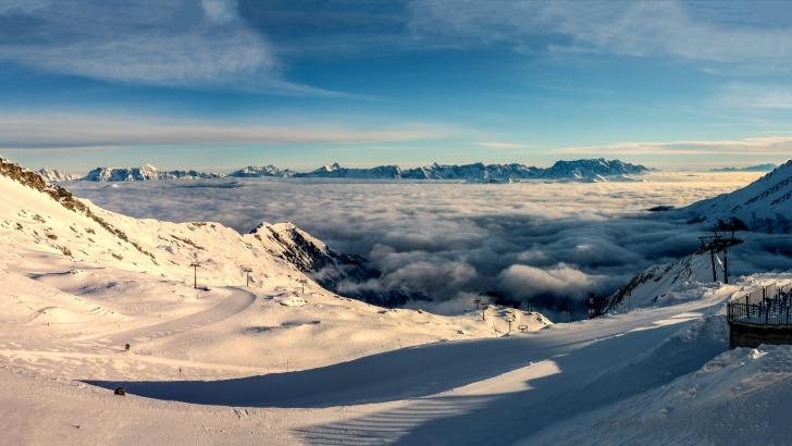 Snowboarding panorama