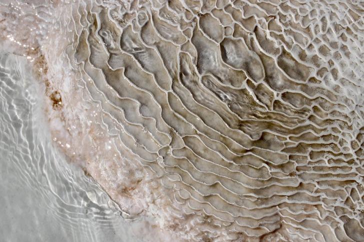 Pamukkale salt soil