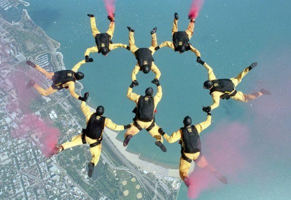 Traveling, Skydiving, BASE Jump, Greece