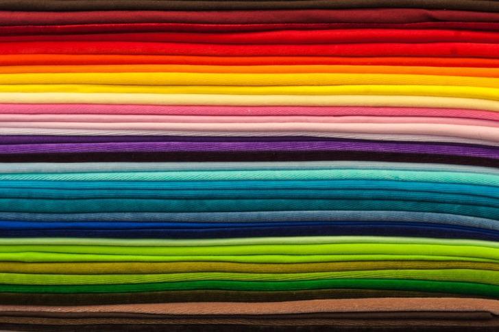 Multicolored textiles